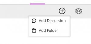 Add discussion menu