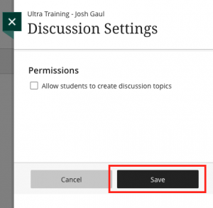 Discussion settings - permissions settings