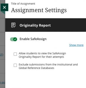 Safe Assign menu