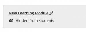 New Learning Module title